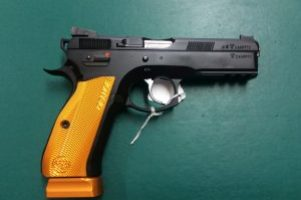 CZ SP-01 Orange 9mm Pistol Image